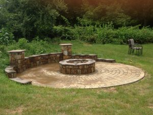 Stone Work Project Firepit